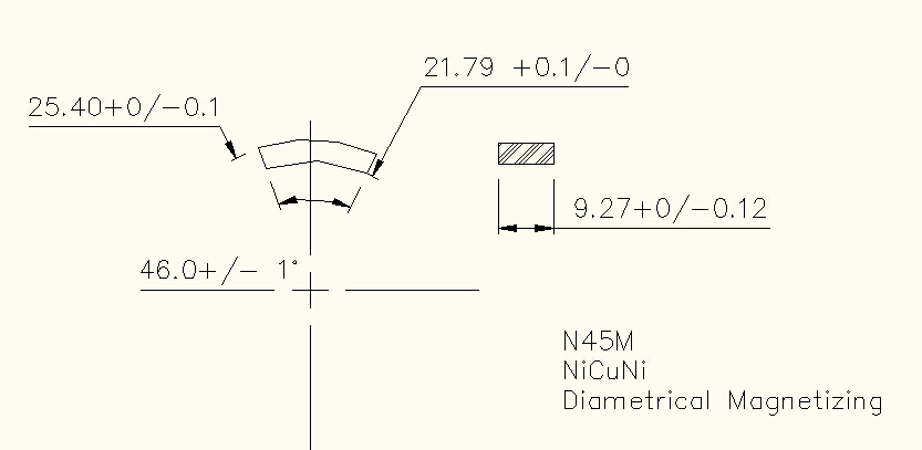 neodymium segment magnet arc
