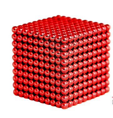 Magnetic Sphere Buckyballs Neocube 216pcs Ball 5mm Puzzle in Red