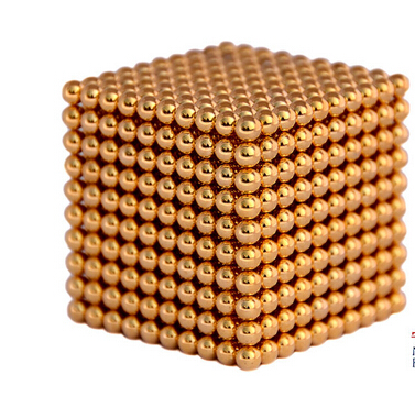 Magnetic Sphere Buckyballs Neocube 216pcs Ball 5mm Puzzle Gold