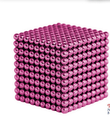 Magnetic Sphere Buckyballs Neocube 216pcs Ball 5mm Puzzle Pink