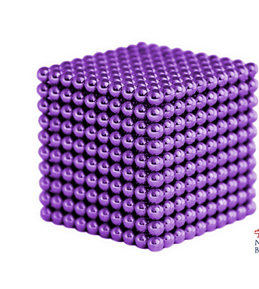 Magnetic Sphere Buckyballs Neocube 216pcs Ball 5mm Puzzle Purple